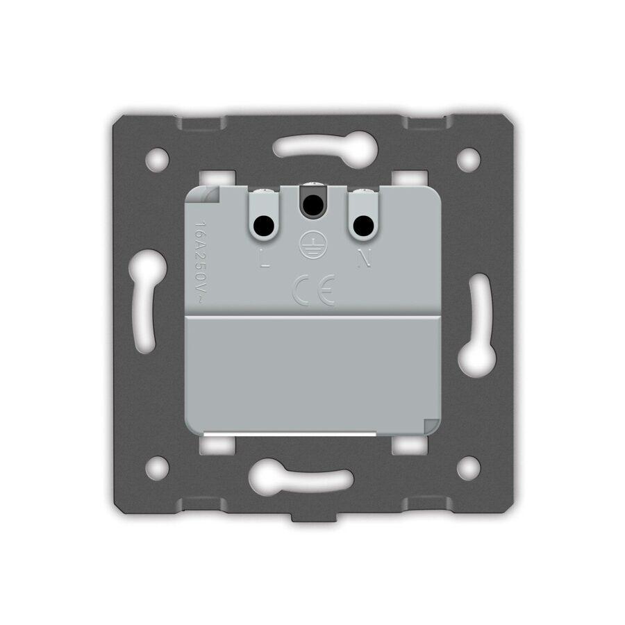 Livolo elektrības kontaktligzda balta 16A - 80mm -Attālināti vadāma (ZIGBEE)