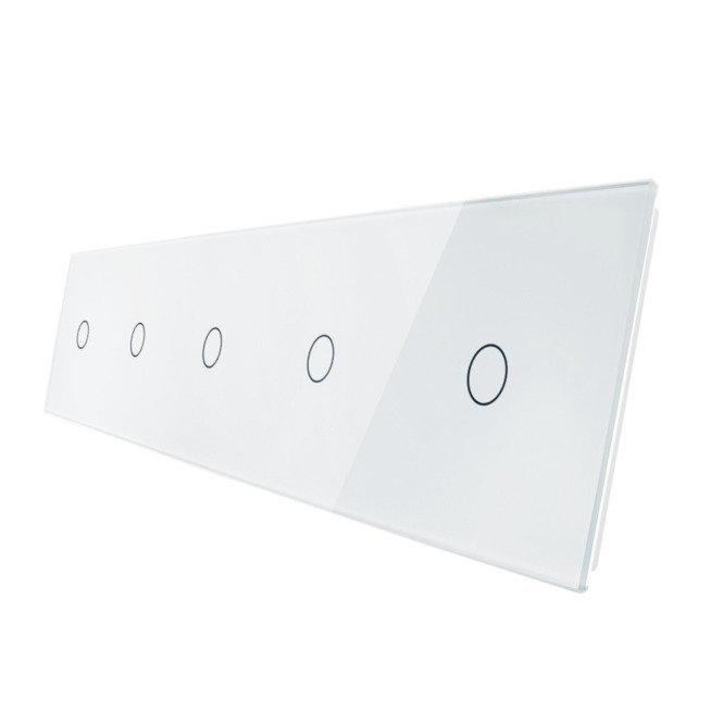 Livolo stikla panelis 1+1+1+1+1 7011111