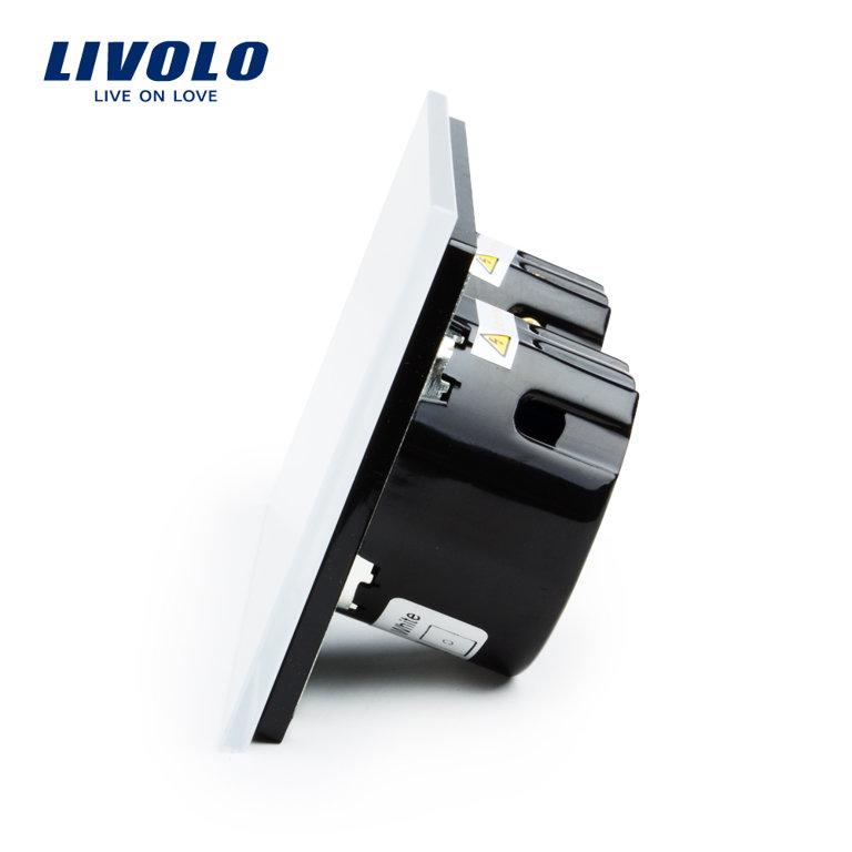 Cенсорный однолинейный выключатель, низковольтный 12/24V - белый
