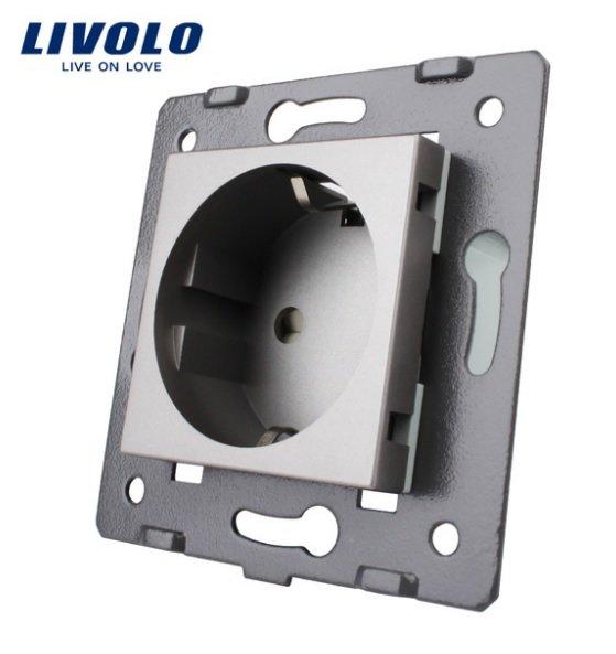 Livolo elektrības kontaktligzda pelēka 16A - 80mm - WG-71EU-64