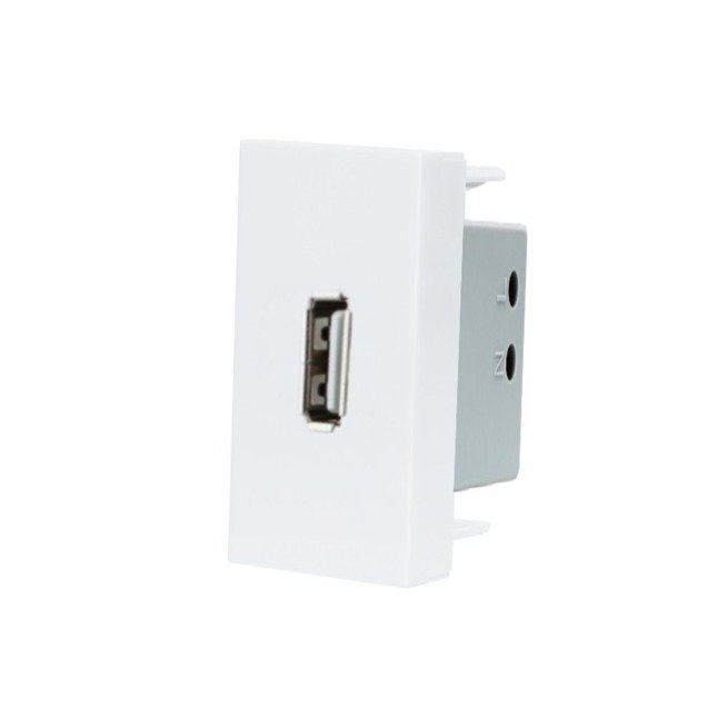Balts USB modulis (uzlādes veikšanai) WUSB-CHARGER-61