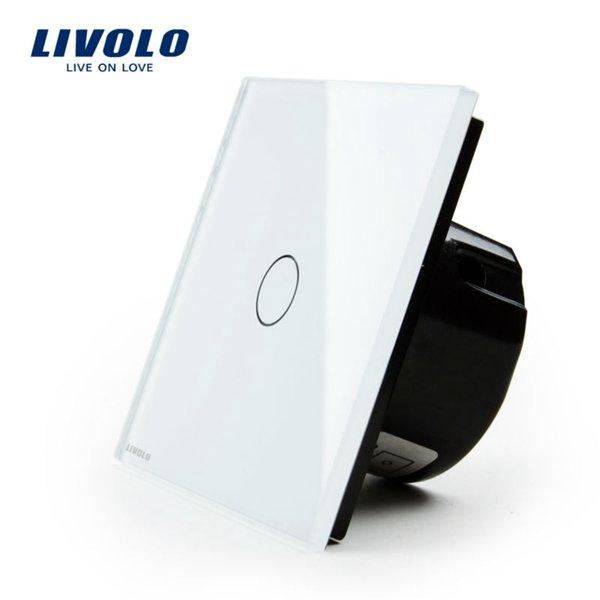 Livolo vienpola skārienjutīgais slēdzis - durvju zvana funkcija, savietojams ar FIBARO sistēmām, balts