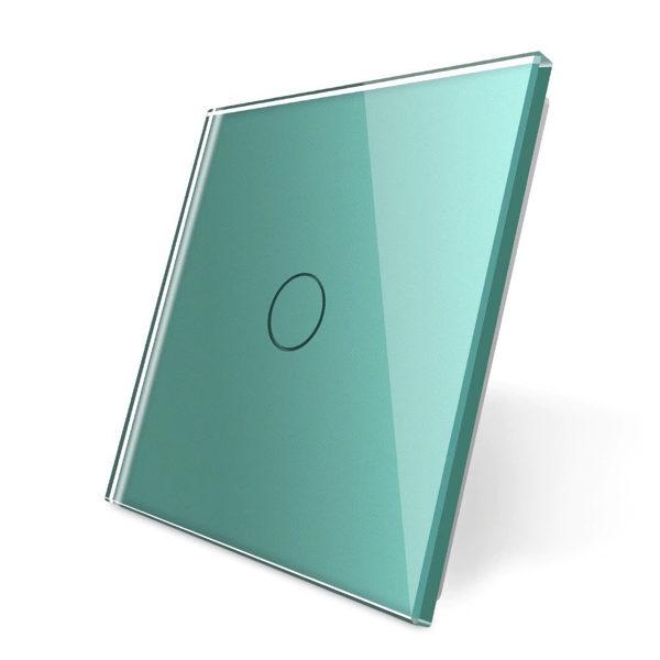 Livolo zaļš stikla panelis 701-68