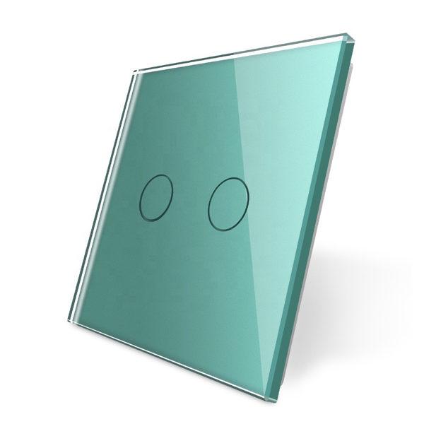 Livolo zaļš stikla panelis 702-68