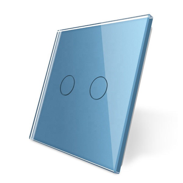 Livolo zils stikla panelis 702-69