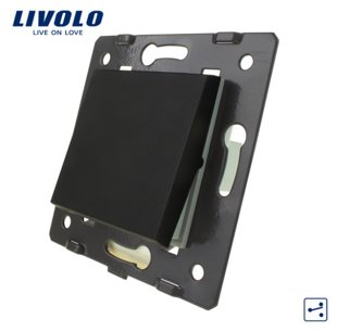 Livolo melns mehāniskais slēdzis pārslēdzis 45 MM