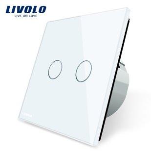 Сенсорный двухлинейный выключатель с функцией дверного звонка, низковольтный 12/24V - белый