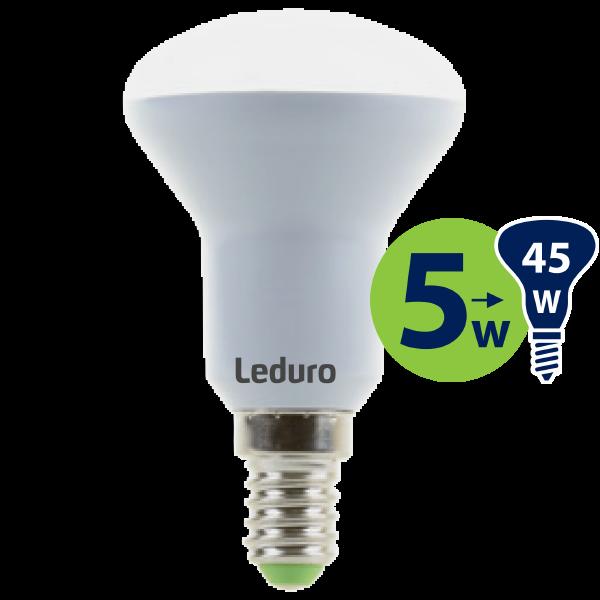 R50 LED SPULDZE PL-R50-21169 5W 400lm E14 180* 3000K 220-240V