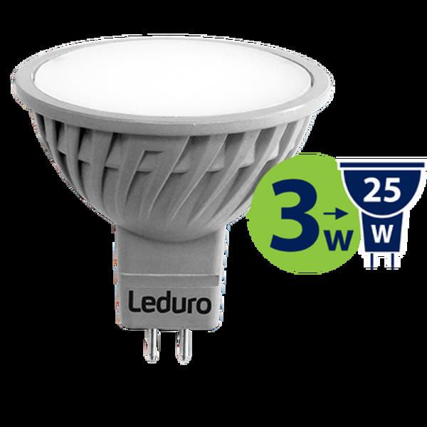 MR16 LED SPULDZE PL-MR16-21179 3W 100* GU5.3 250lm 3000K AC/DC12V