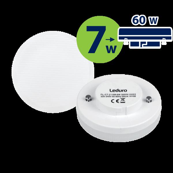 LED SPULDZE PL-CT-21199 7W 600lm 100° GX53 3000K 220-240V