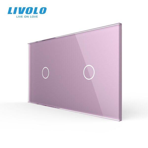 Livolo Rozā (ROSE) stikla panelis 1+1 7011-67