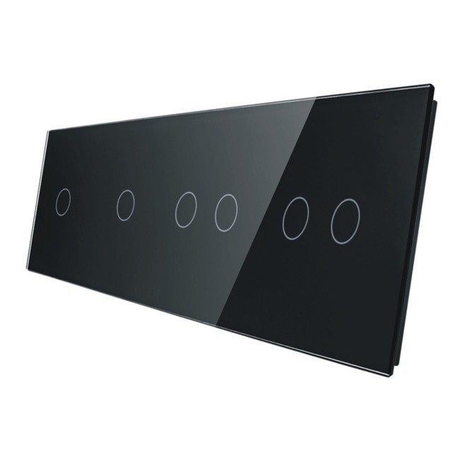 Livolo stikla panelis 1+1+2+2 701122