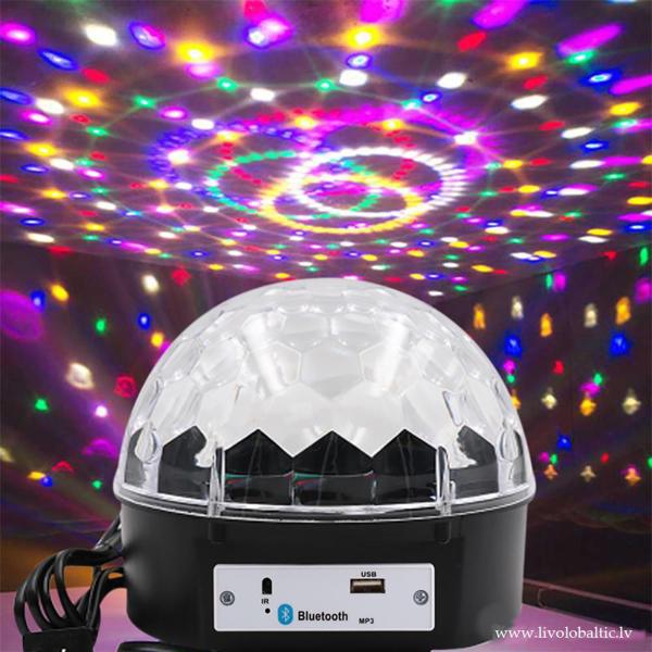 LED disko bumba Mp3, Bluetooth