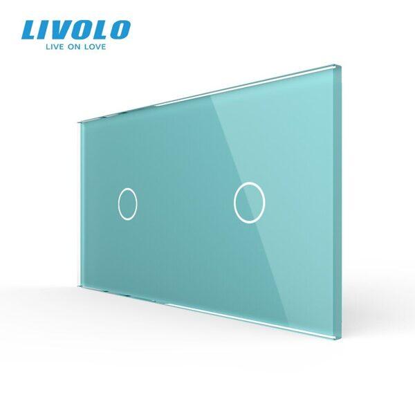 Livolo Zaļš stikla panelis 1+1 7011-68