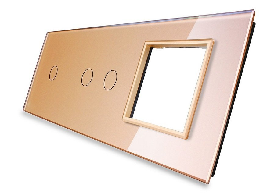 Livolo stikla panelis 1+2+ Kontaktligzdas rāmis 7012G