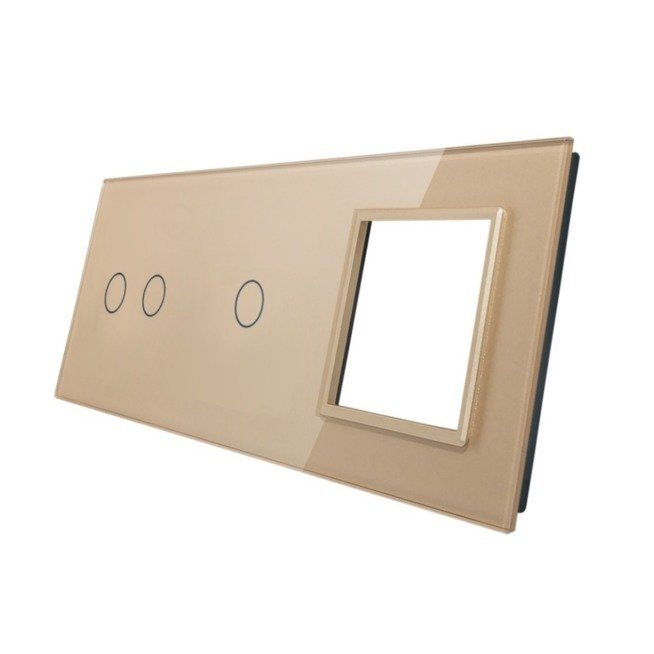 Livolo stikla panelis 2+1+ Kontaktligzdas rāmis 7021G