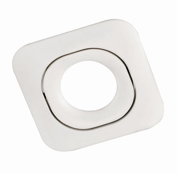 SQUARE PL-SQW1-80001 recessed luminaire white 1x GU10 82x82, aluminium
