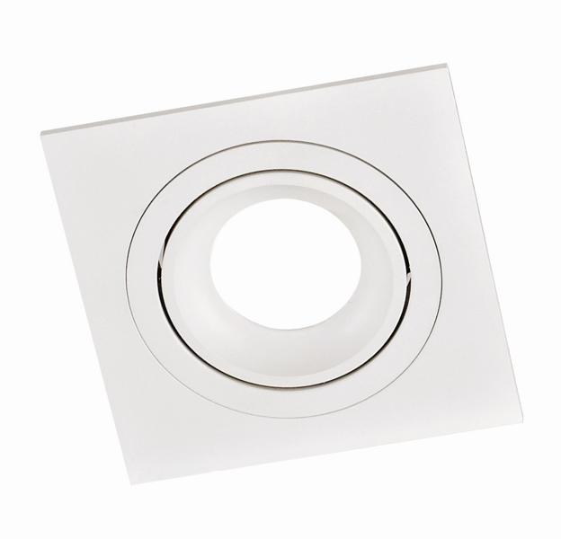 SQUARE PL-SQW1-80002  recessed luminaire white 1x GU10 92x92, aluminium