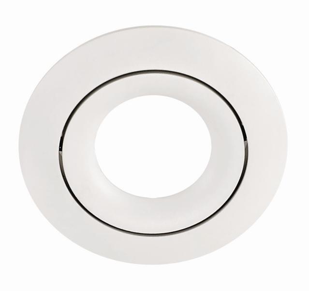 RING PL-RDW1-80003  recessed luminaire white 1x GU10 D82, aluminium