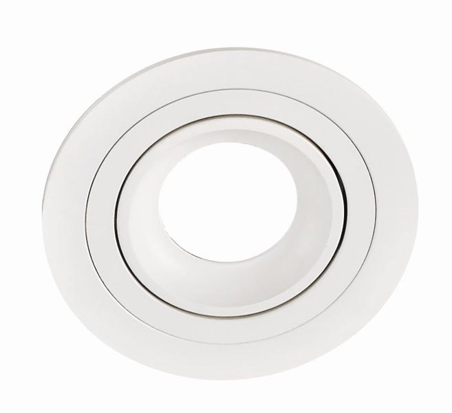 RING PL-RDW1-80004  recessed luminaire white 1x GU10 D92, aluminium