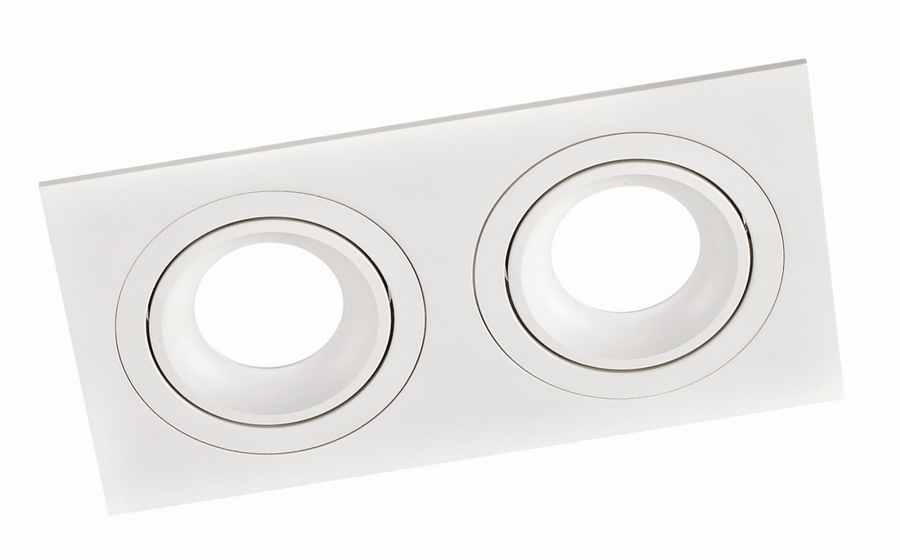 SQUARE 2 PL-SQW2-80005  recessed luminaire white  2x GU10 92x175, aluminium