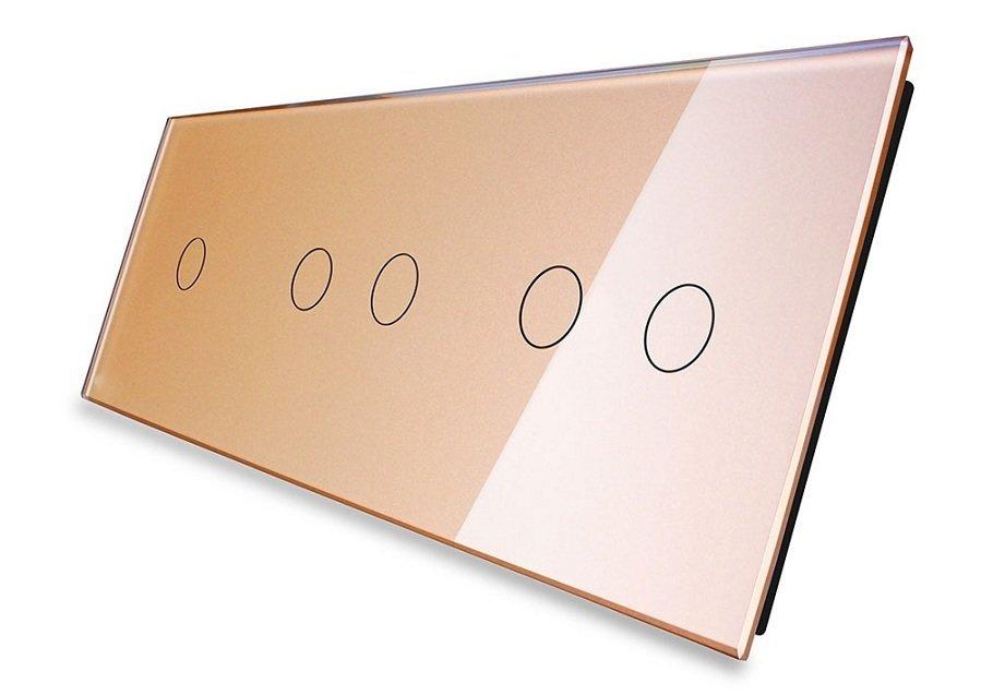 Livolo stikla panelis 1+2+2 70122