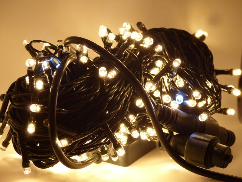 Led Virtene Silti Balta+flash 300 LED/ 21m/Ip44