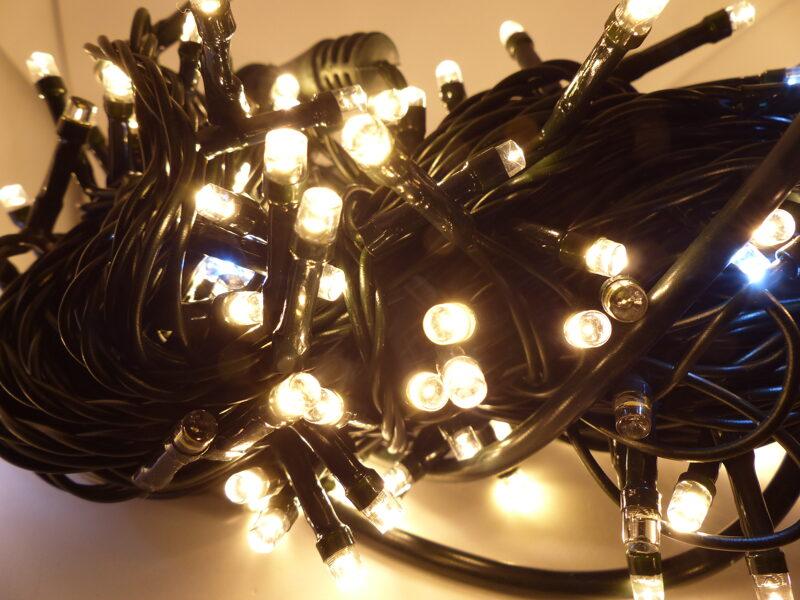 Led Virtene Silti Balta+flash 100 LED/ 7m/Ip44
