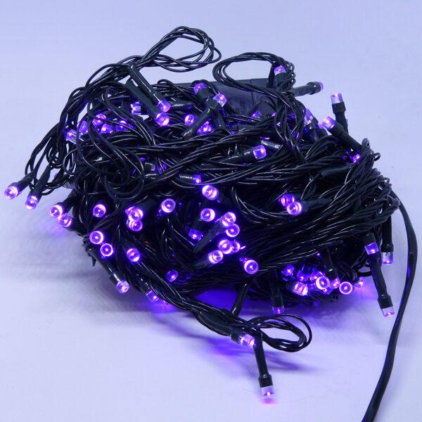 Led virtene violeta 300Led IP44,15m, 8 režīmi