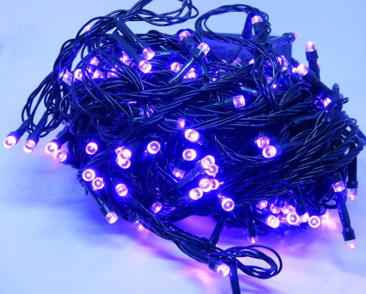 Led virtene violeta 200Led IP44,15m, 8 režīmi