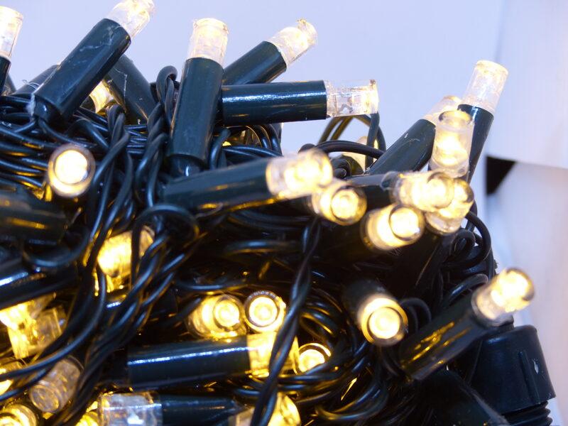 Led Virtene Silti Balta+flash 200 LED/ 15m/Ip44 lielas Led lampiņas