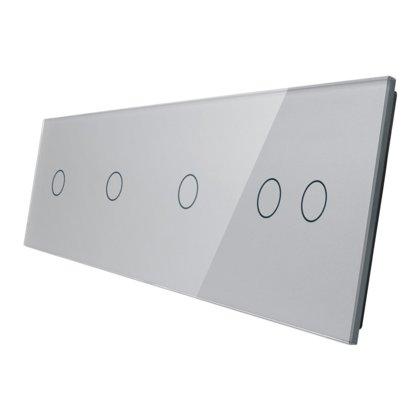Livolo stikla panelis 1+1+1+2 701112