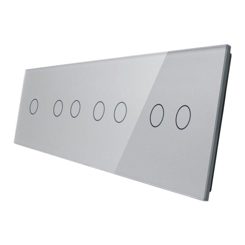 Livolo stikla panelis 1+2+2+2