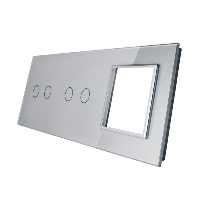 Livolo stikla panelis  2+2+ Kontaktligzdas rāmis 7022G