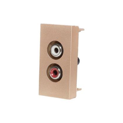Livolo audio modulis, zelta WAUDIO-1-63