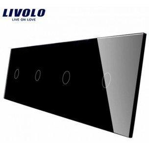 Livolo stikla panelis 1+1+1+1 701111