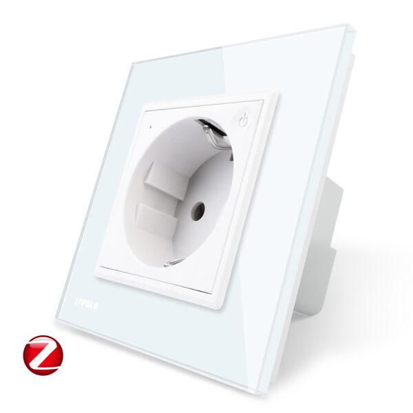Livolo viedā elektrības kontaktligzda balta  (Attālināti vadāma) 16A - 80mm - WG-71EU-ZIGBBE-61