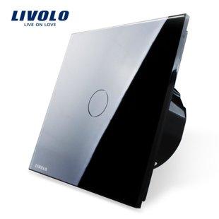 Cенсорный однолинейный выключатель, низковольтный 12/24V - черный