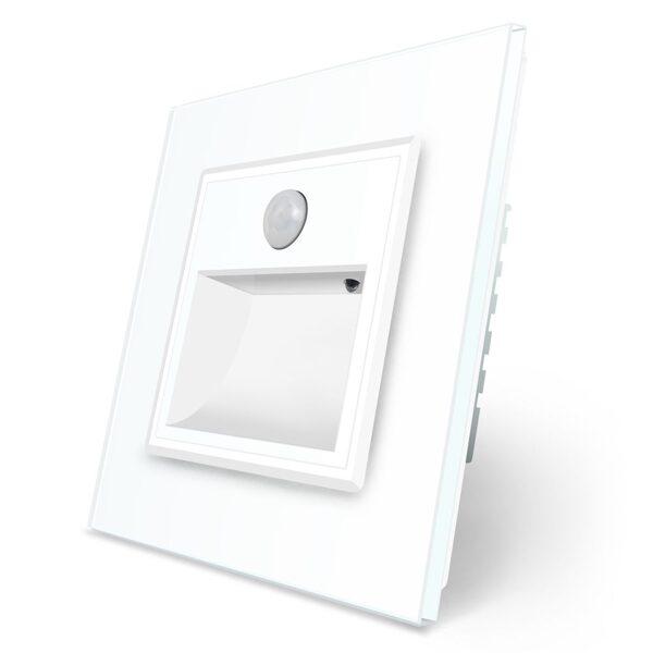 Livolo Kāpņu/grīdas lampa  Balta, ar klātbūtnes sensoru Balta ar baltu stikla paneli